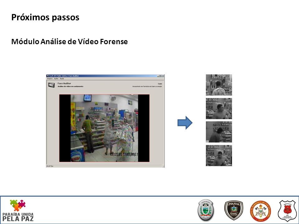 Próximos passos Módulo Análise de Vídeo Forense