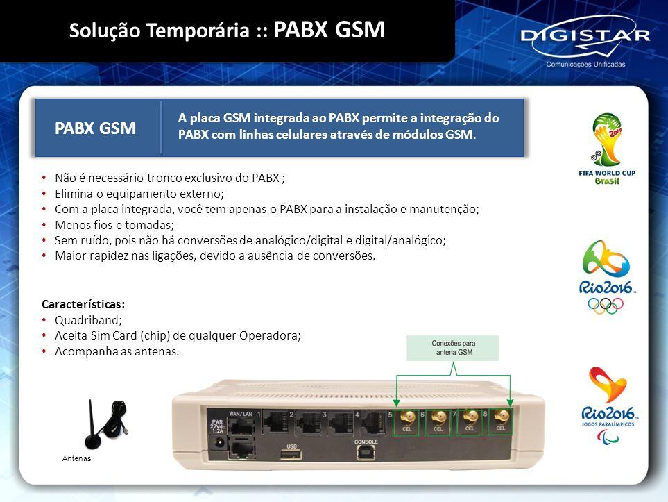 Solução Temporária :: PABX GSM