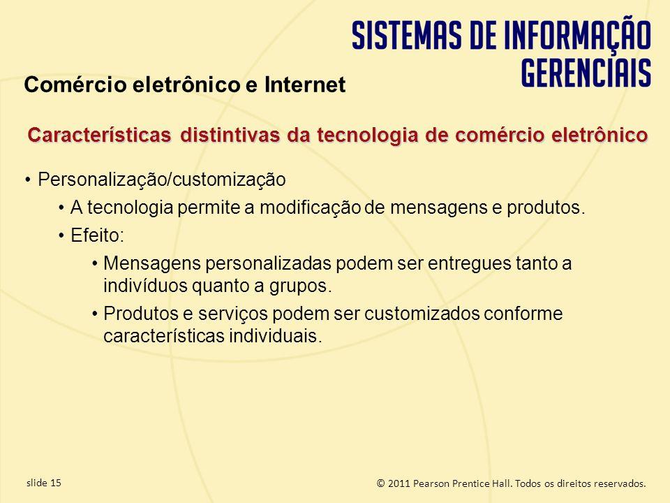 Características distintivas da tecnologia de comércio eletrônico