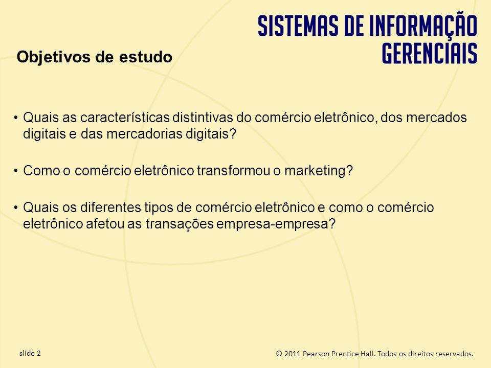 Objetivos de estudo Quais as características distintivas do comércio eletrônico, dos mercados digitais e das mercadorias digitais