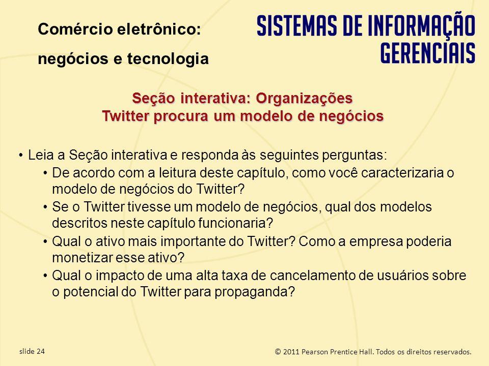 Seção interativa: Organizações Twitter procura um modelo de negócios