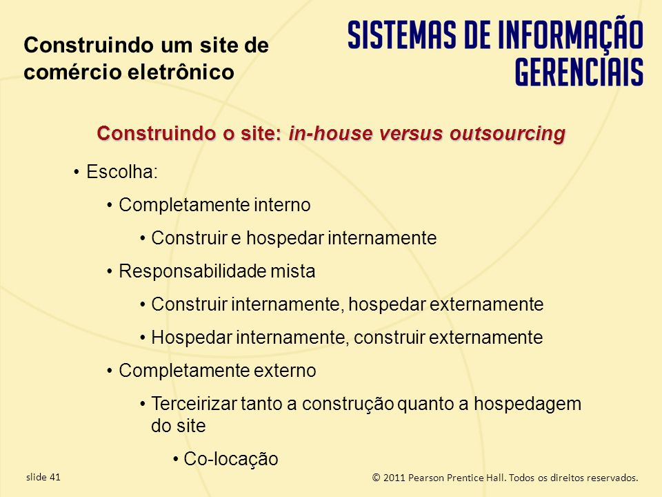 Construindo o site: in-house versus outsourcing