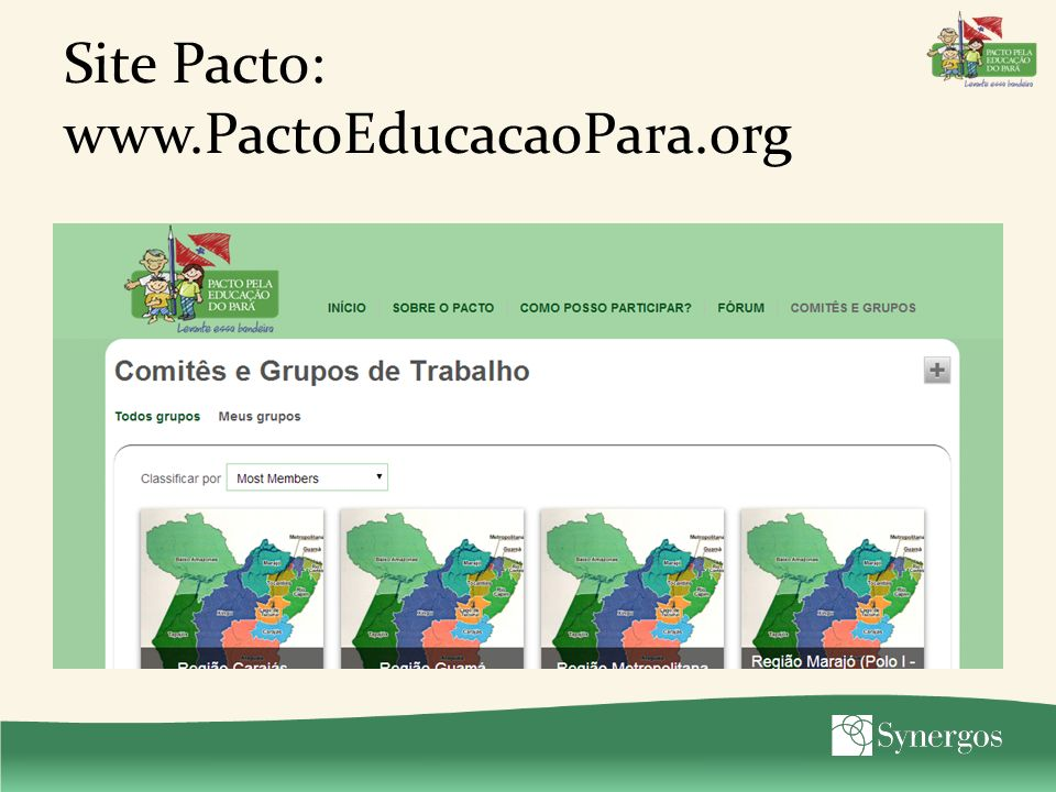 Site Pacto: www.PactoEducacaoPara.org