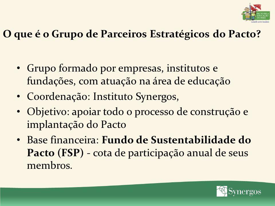 O que é o Grupo de Parceiros Estratégicos do Pacto