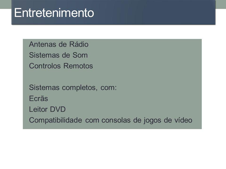 Entretenimento Antenas de Rádio Sistemas de Som Controlos Remotos