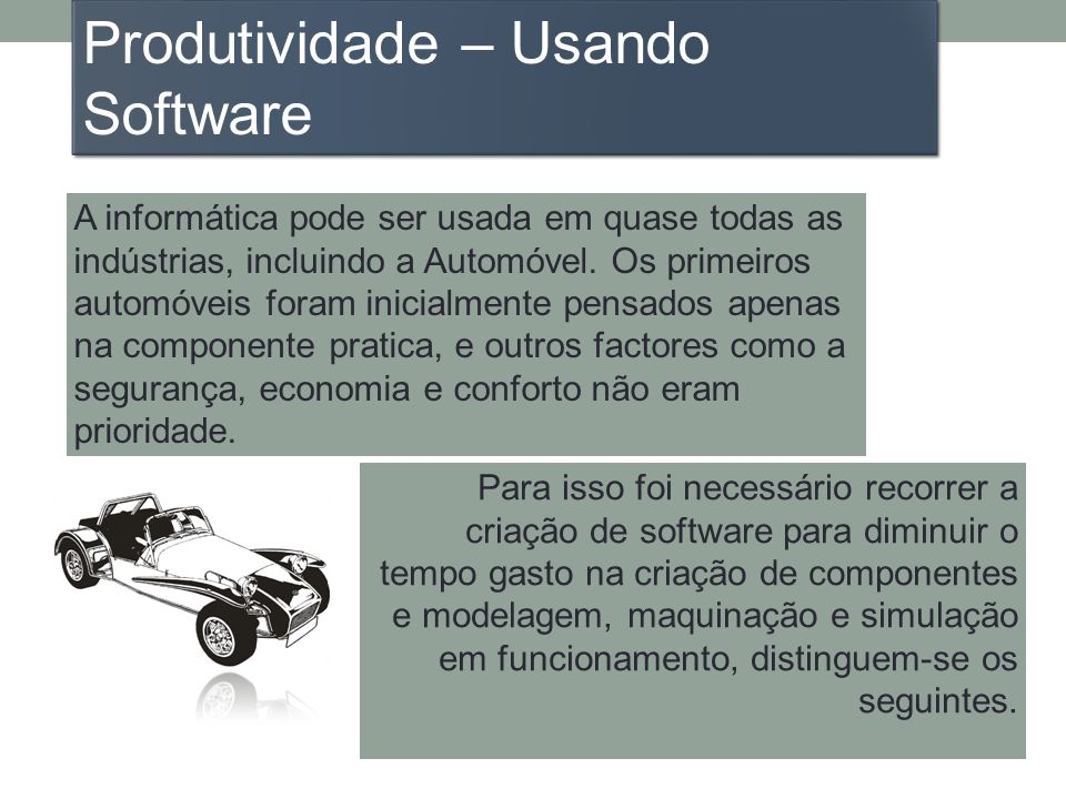 Produtividade – Usando Software