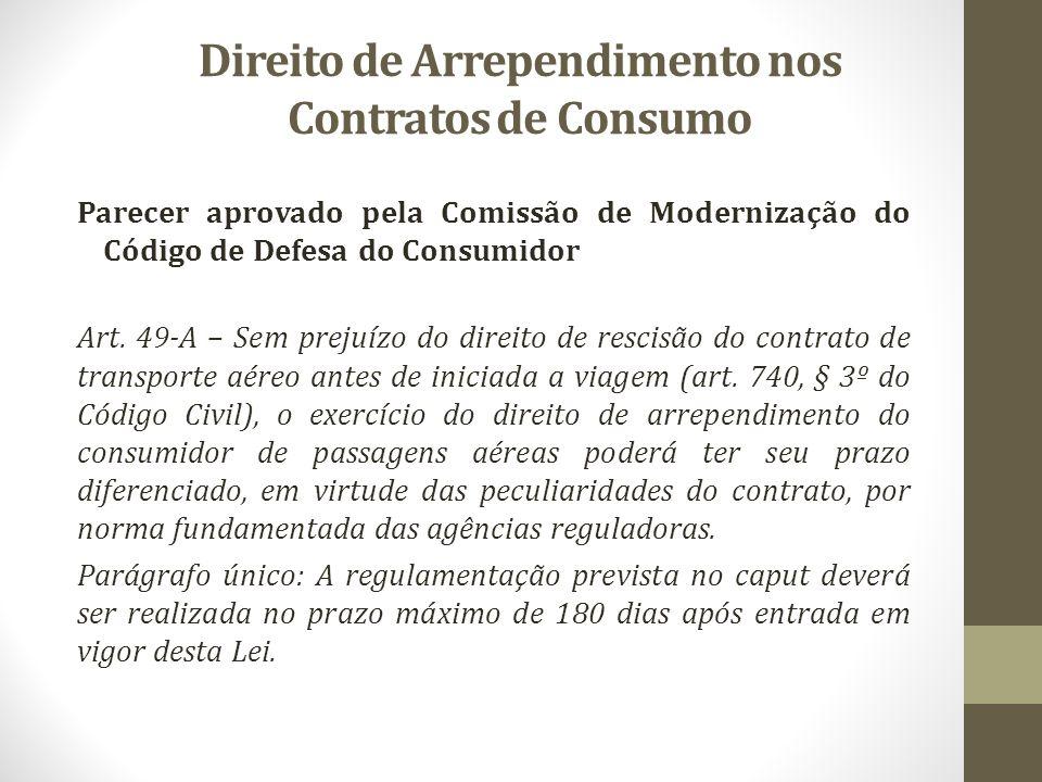 Direito de Arrependimento nos Contratos de Consumo