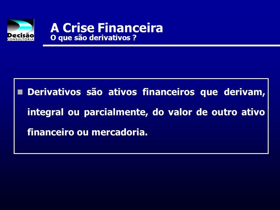 A Crise Financeira O que são derivativos