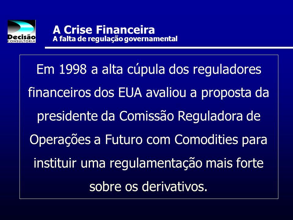A Crise Financeira A falta de regulação governamental
