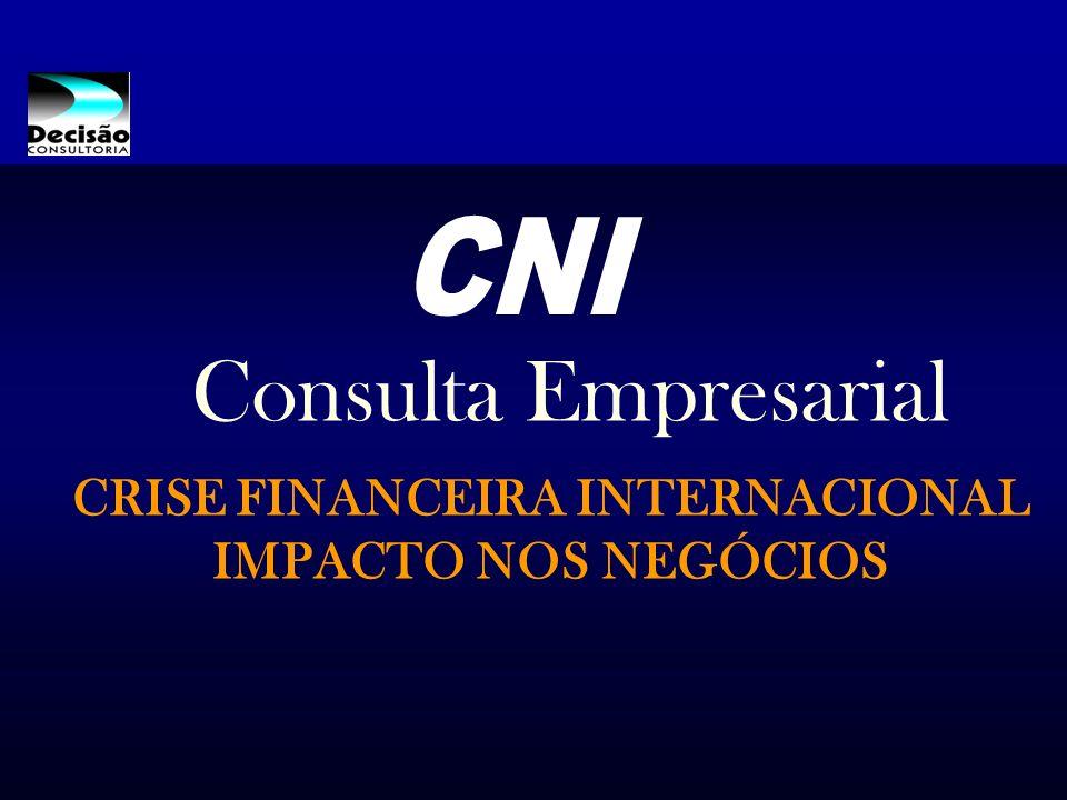 CRISE FINANCEIRA INTERNACIONAL