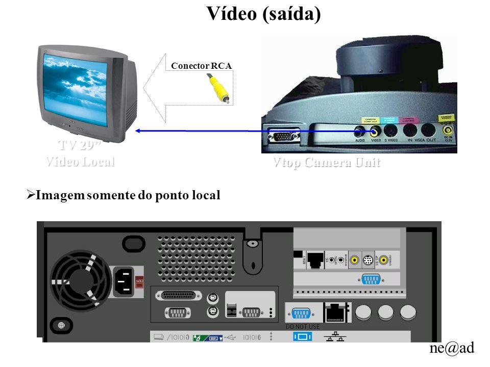 Vídeo (saída) TV 29 Vídeo Local Vtop Camera Unit