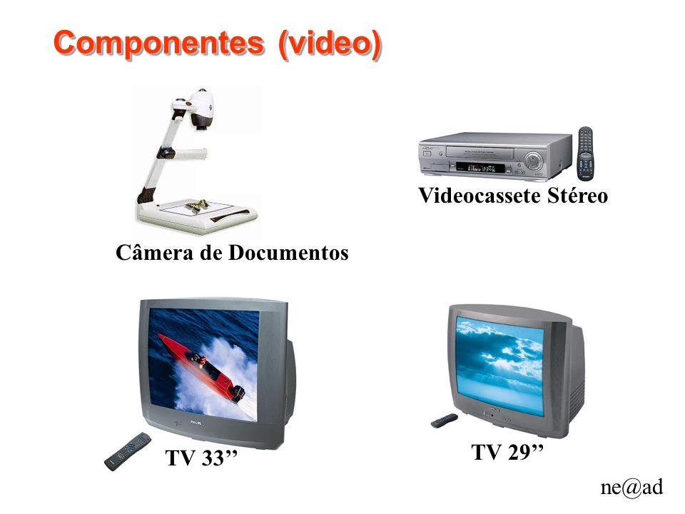 Componentes (video) Videocassete Stéreo Câmera de Documentos TV 29''