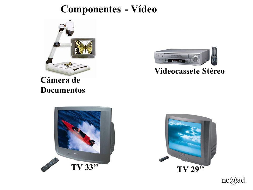 Componentes - Vídeo Videocassete Stéreo Câmera de Documentos TV 33''