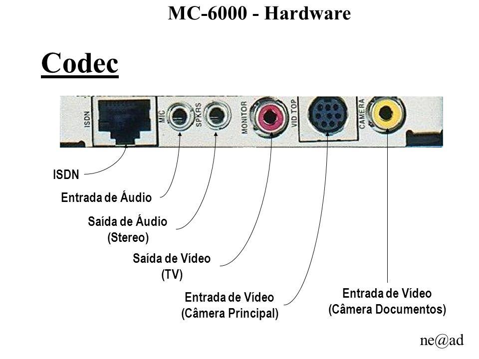Codec MC-6000 - Hardware ISDN Entrada de Áudio Saída de Áudio (Stereo)