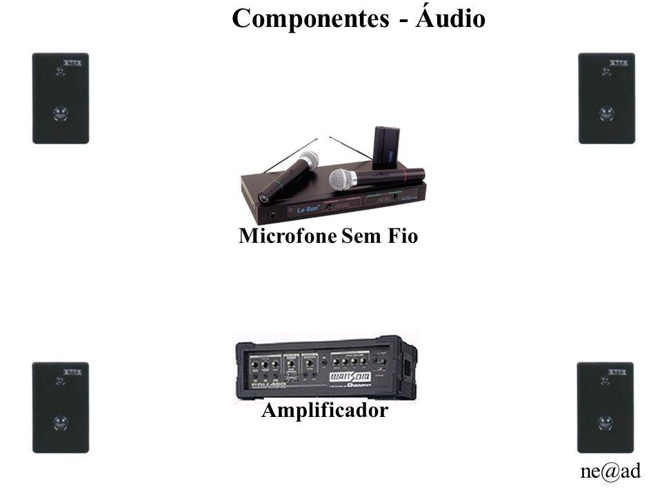 Componentes - Áudio Microfone Sem Fio Amplificador