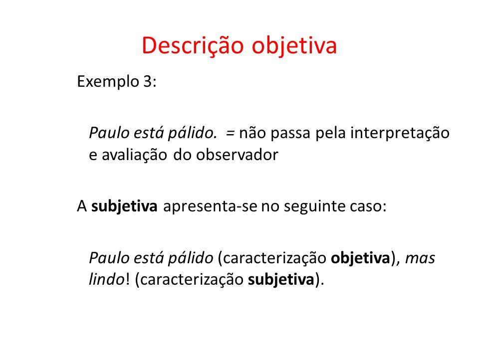 Descrição objetiva