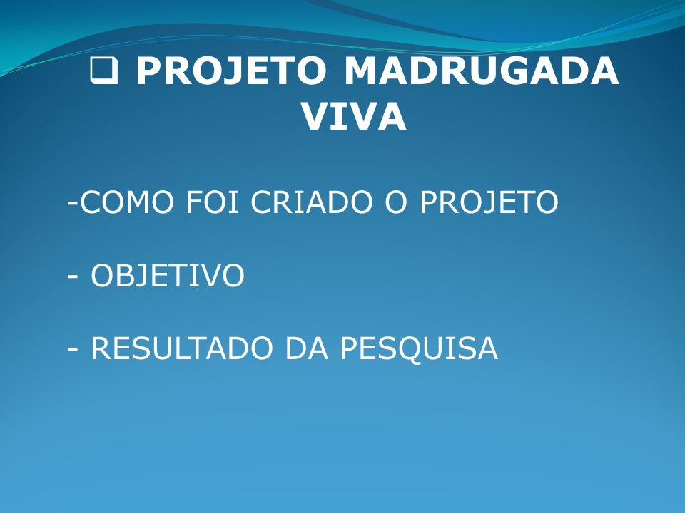 PROJETO MADRUGADA VIVA