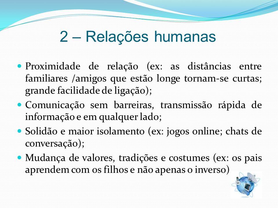 2 – Relações humanas