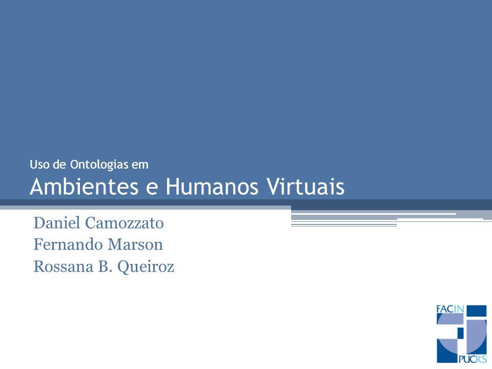 Uso de Ontologias em Ambientes e Humanos Virtuais