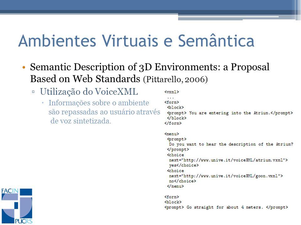 Ambientes Virtuais e Semântica