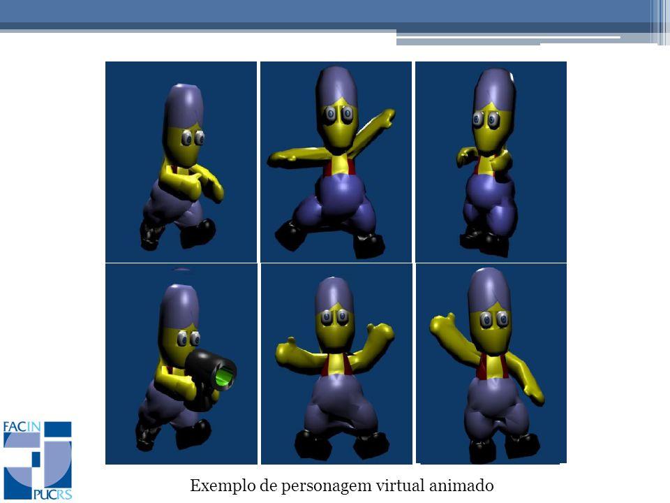 Exemplo de personagem virtual animado