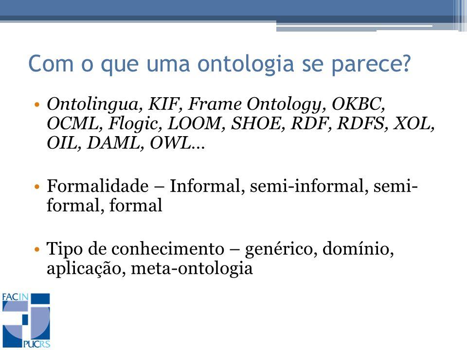 Com o que uma ontologia se parece