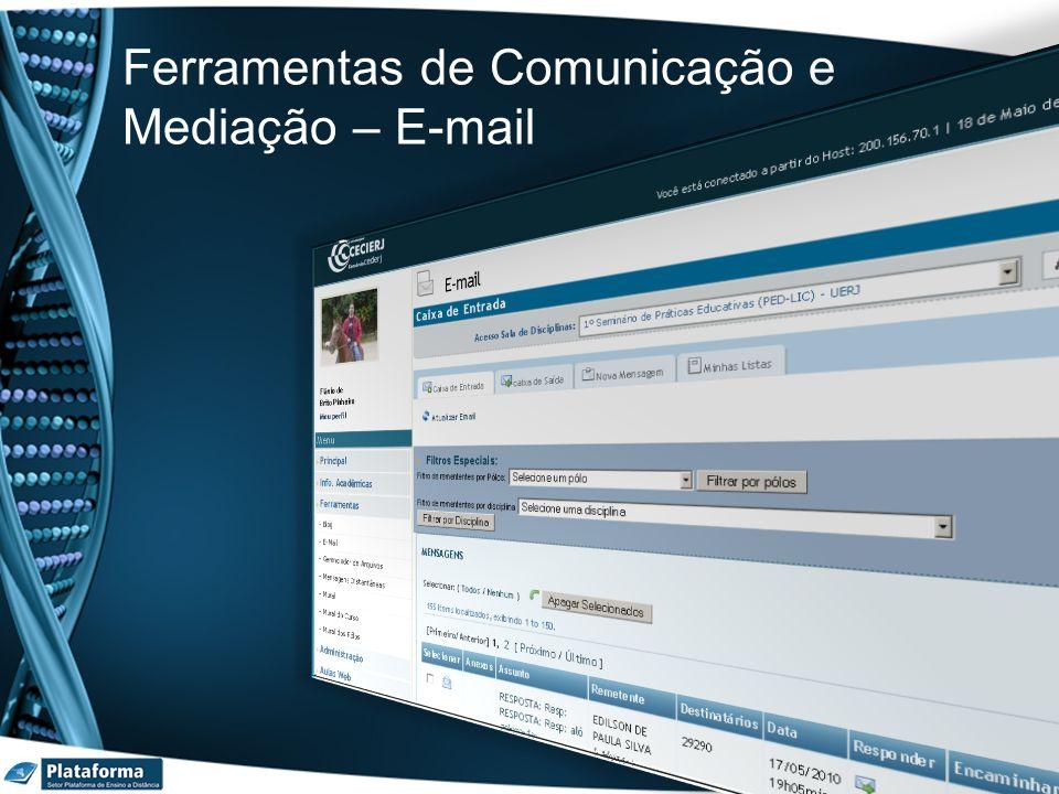Ferramentas de Comunicação e Mediação – E-mail