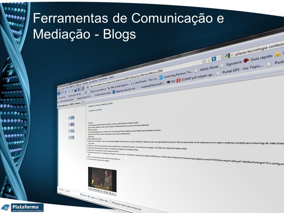 Ferramentas de Comunicação e Mediação - Blogs