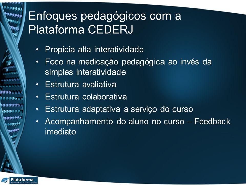 Enfoques pedagógicos com a Plataforma CEDERJ
