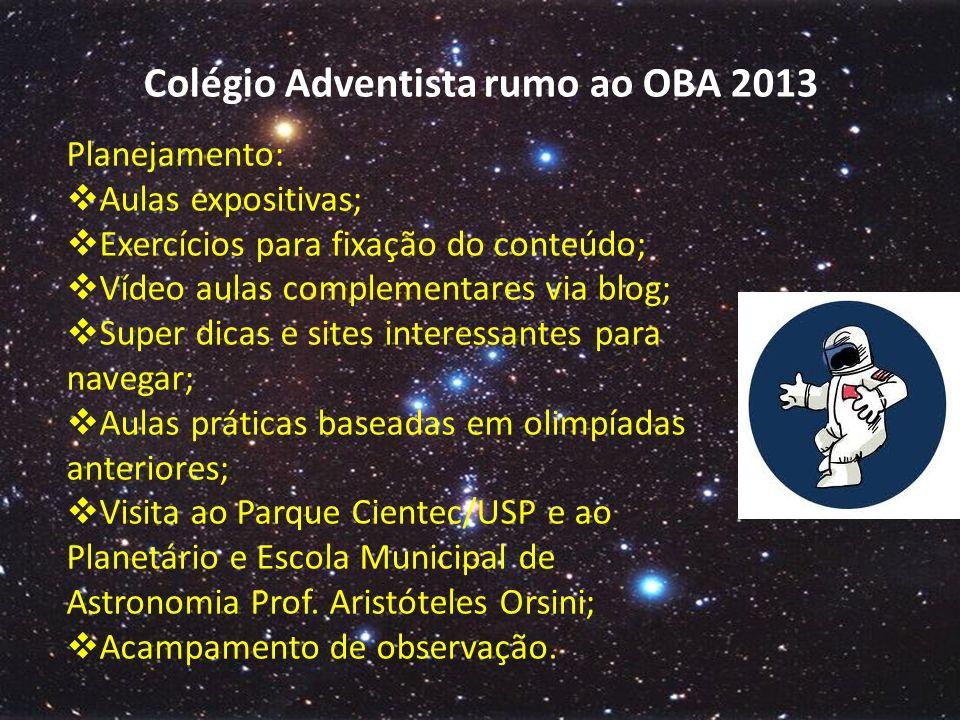 Colégio Adventista rumo ao OBA 2013