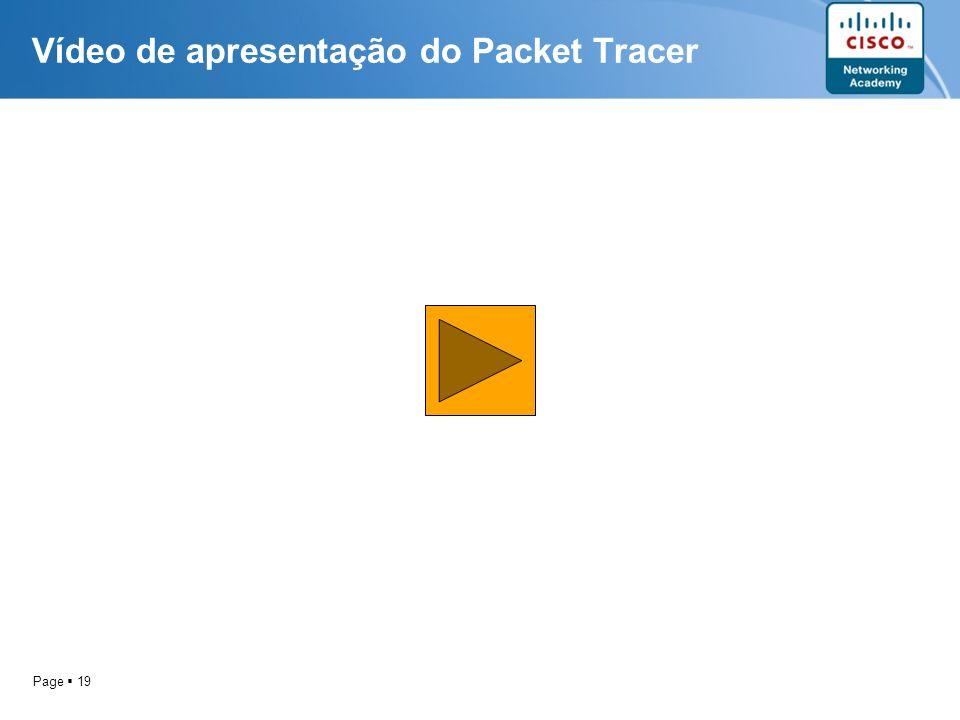 Vídeo de apresentação do Packet Tracer