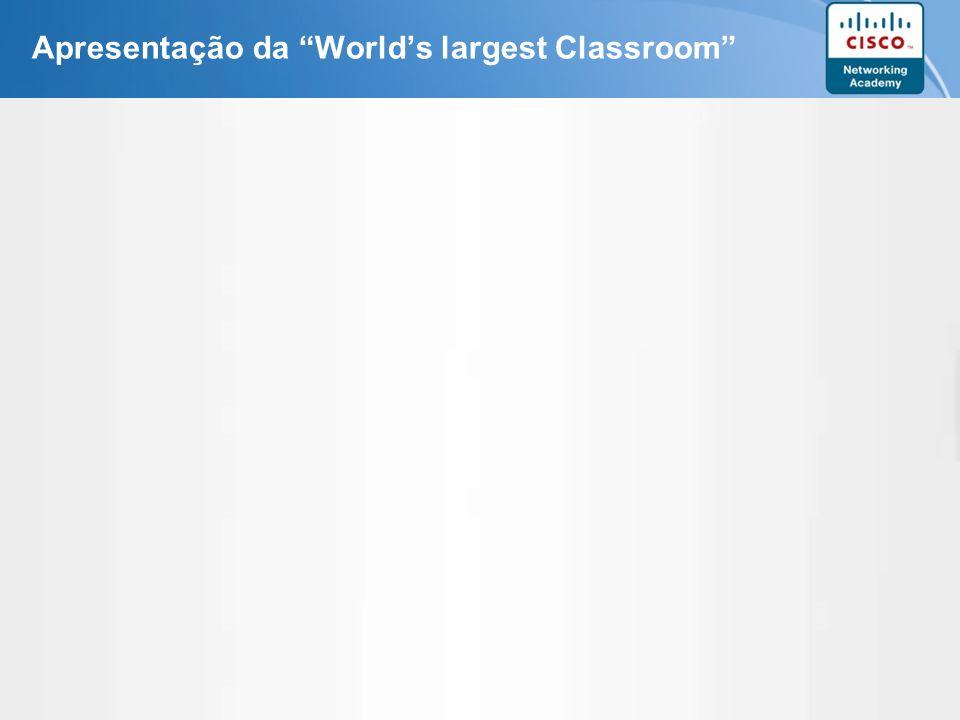 Apresentação da World's largest Classroom
