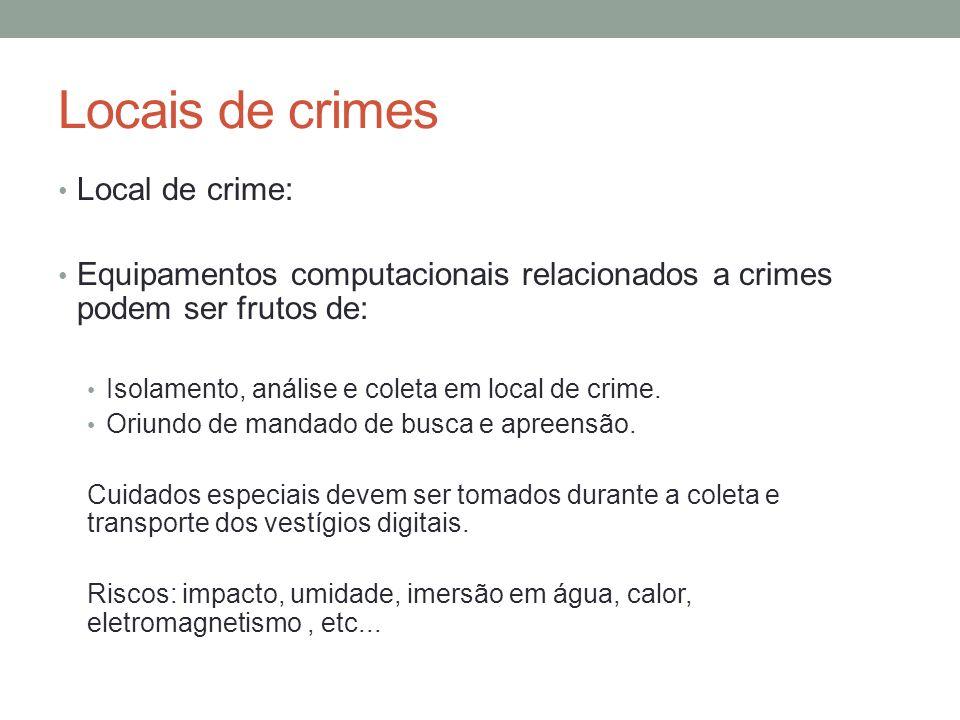 Locais de crimes Local de crime: