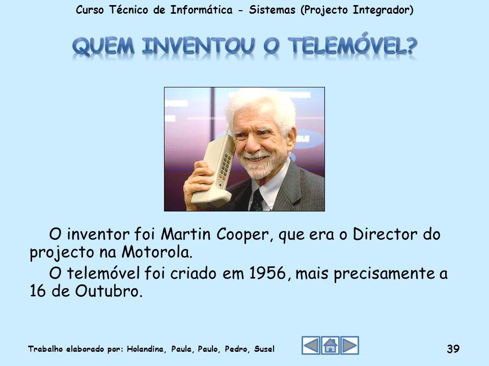 Quem inventou o telemóvel
