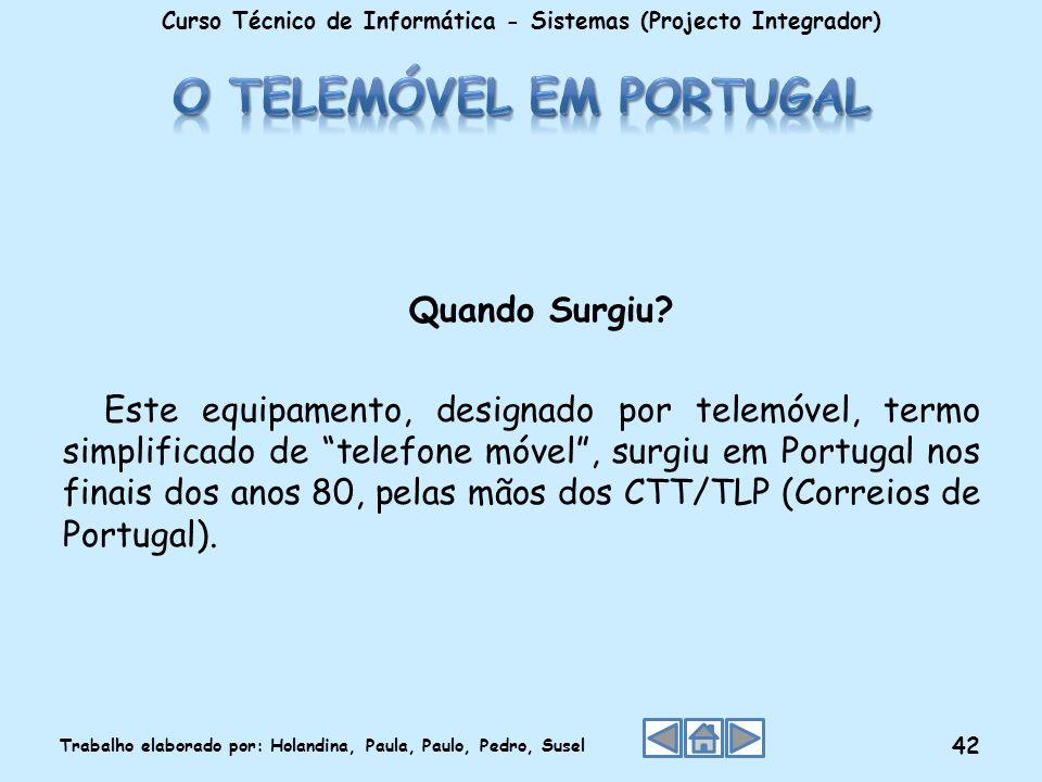 O telemóvel em Portugal
