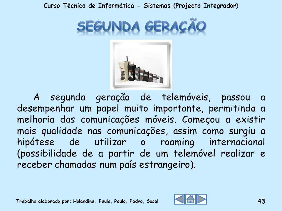Curso Técnico de Informática - Sistemas (Projecto Integrador)