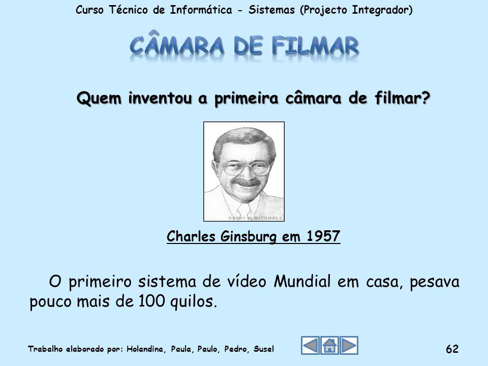 Câmara de filmar Quem inventou a primeira câmara de filmar