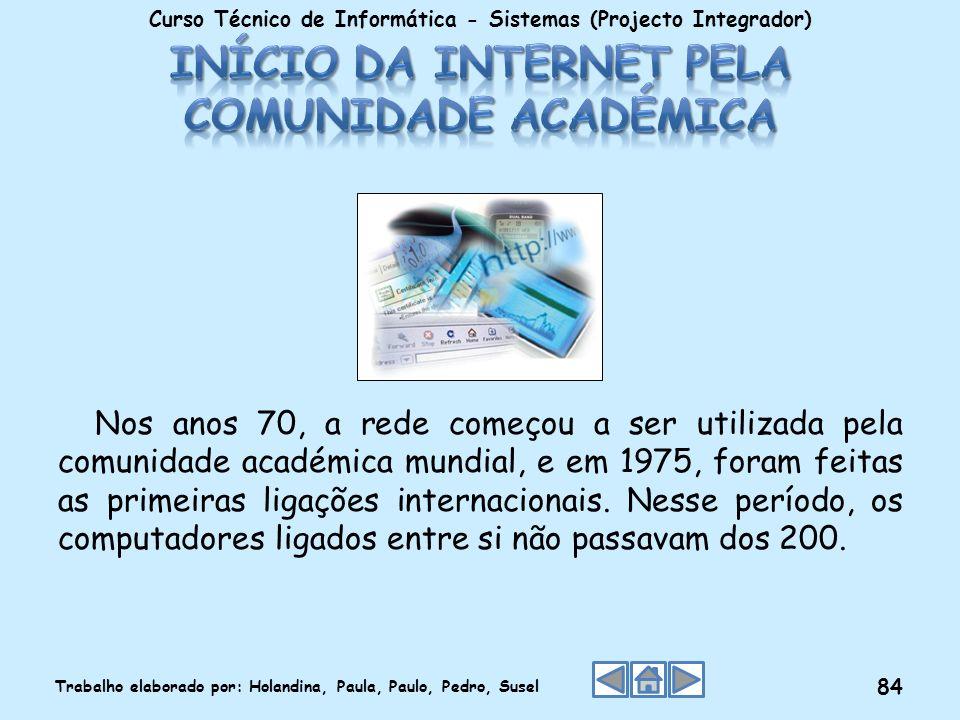 Início da Internet pela comunidade académica