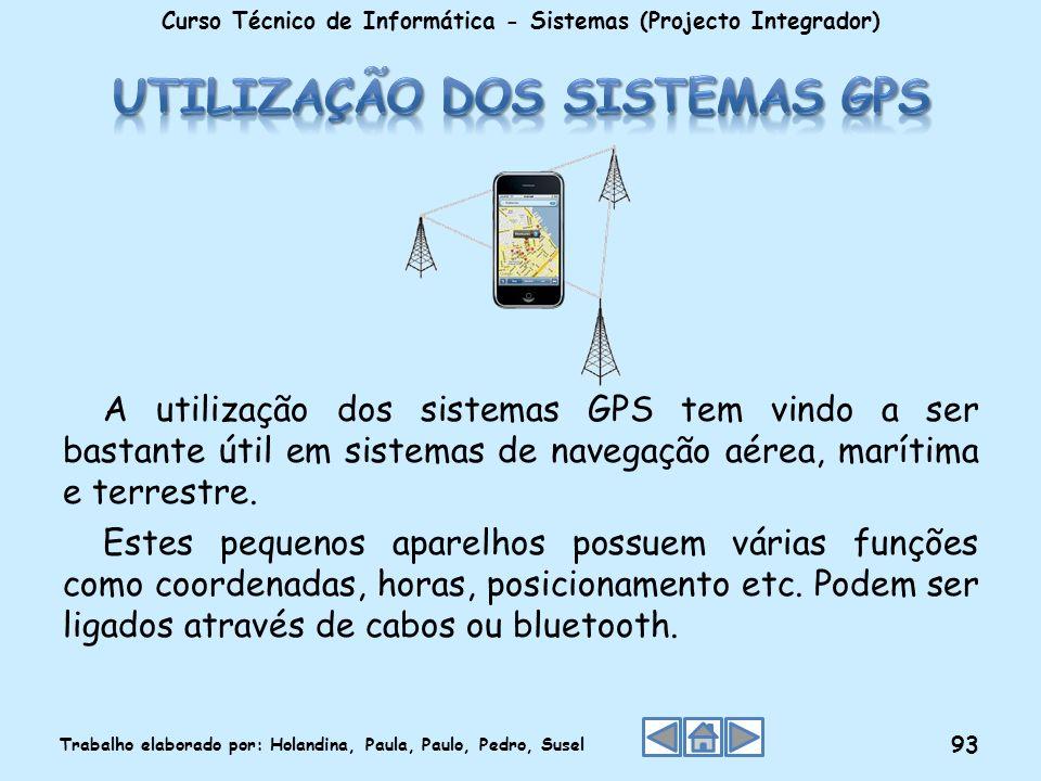 Utilização dos sistemas GPS