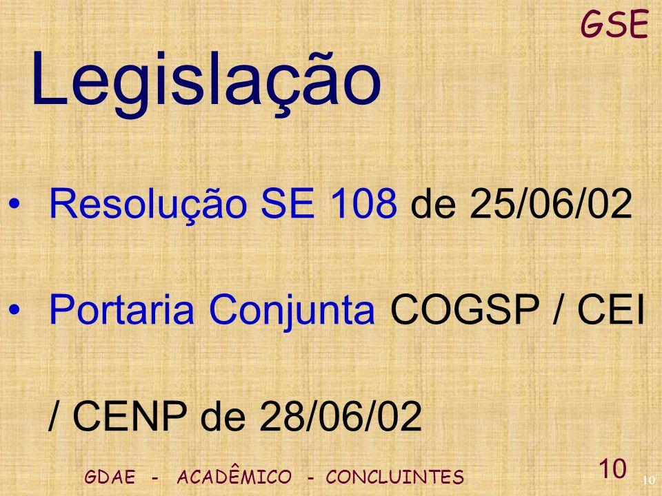 Legislação Resolução SE 108 de 25/06/02
