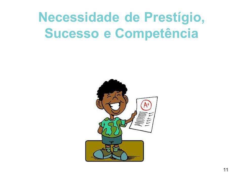 Necessidade de Prestígio, Sucesso e Competência