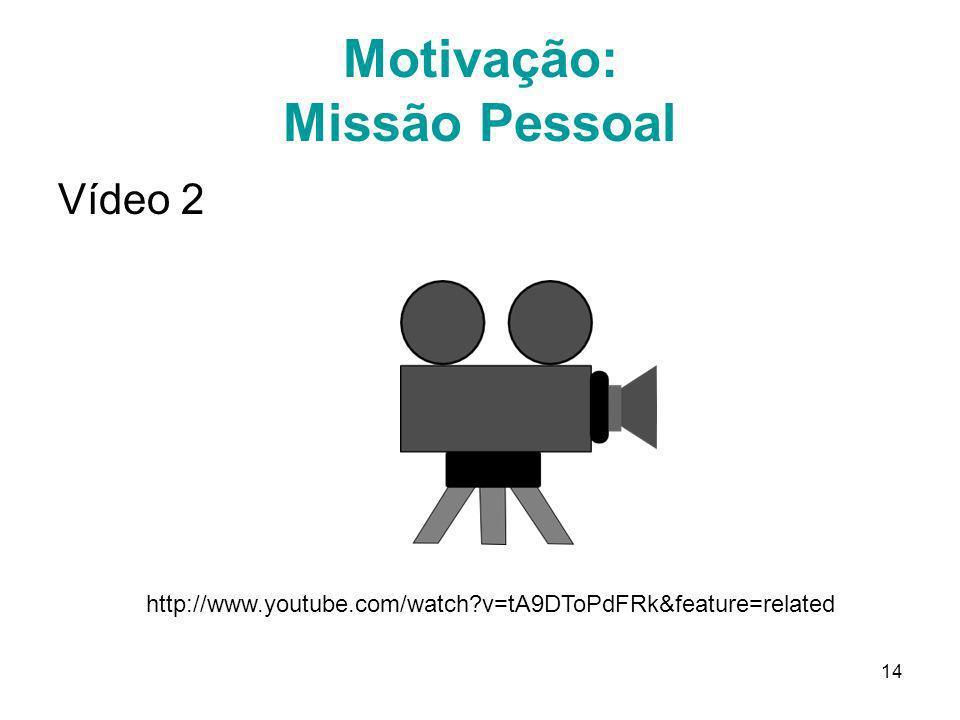 Motivação: Missão Pessoal
