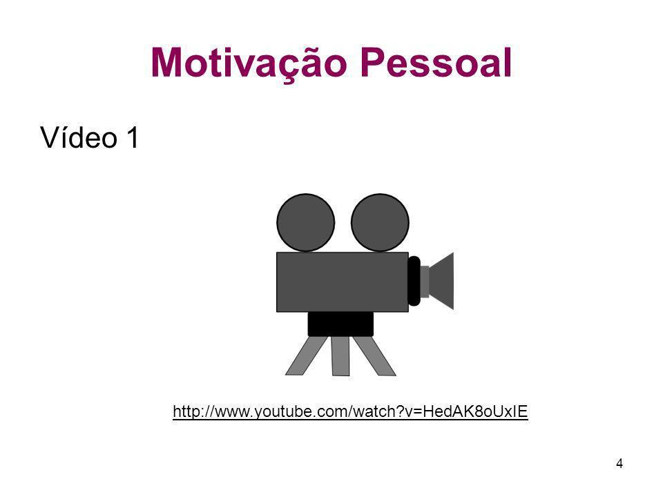 Motivação Pessoal Vídeo 1 http://www.youtube.com/watch v=HedAK8oUxIE