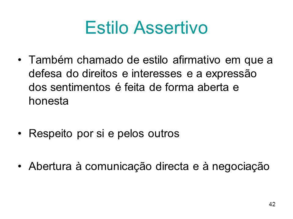 Estilo Assertivo