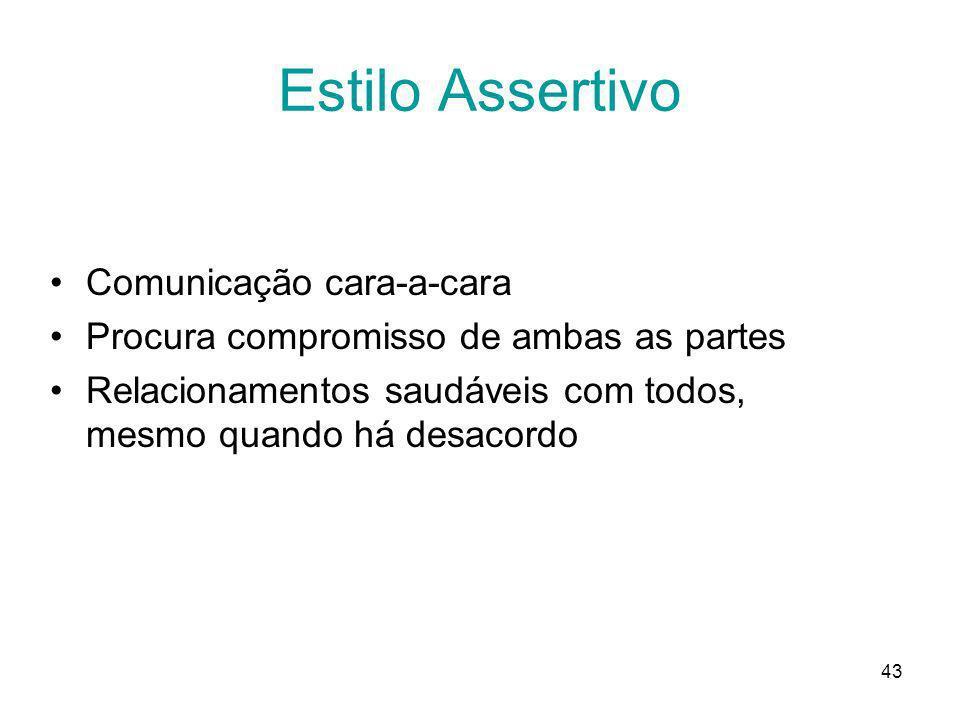 Estilo Assertivo Comunicação cara-a-cara