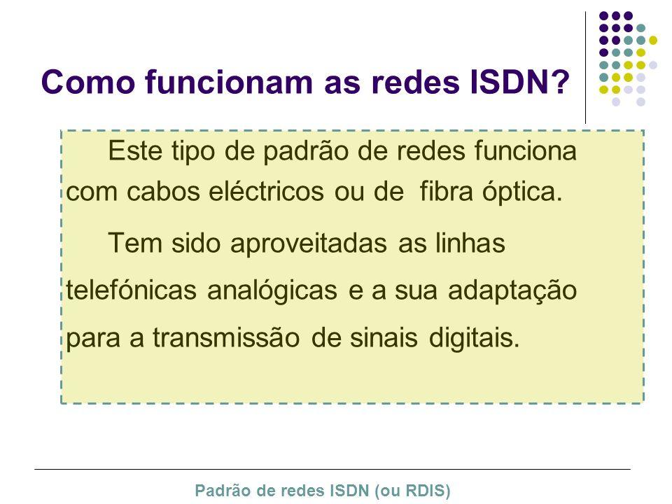 Como funcionam as redes ISDN