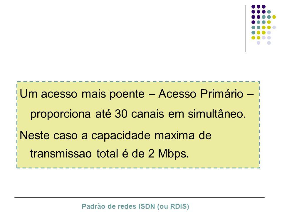 Neste caso a capacidade maxima de transmissao total é de 2 Mbps.