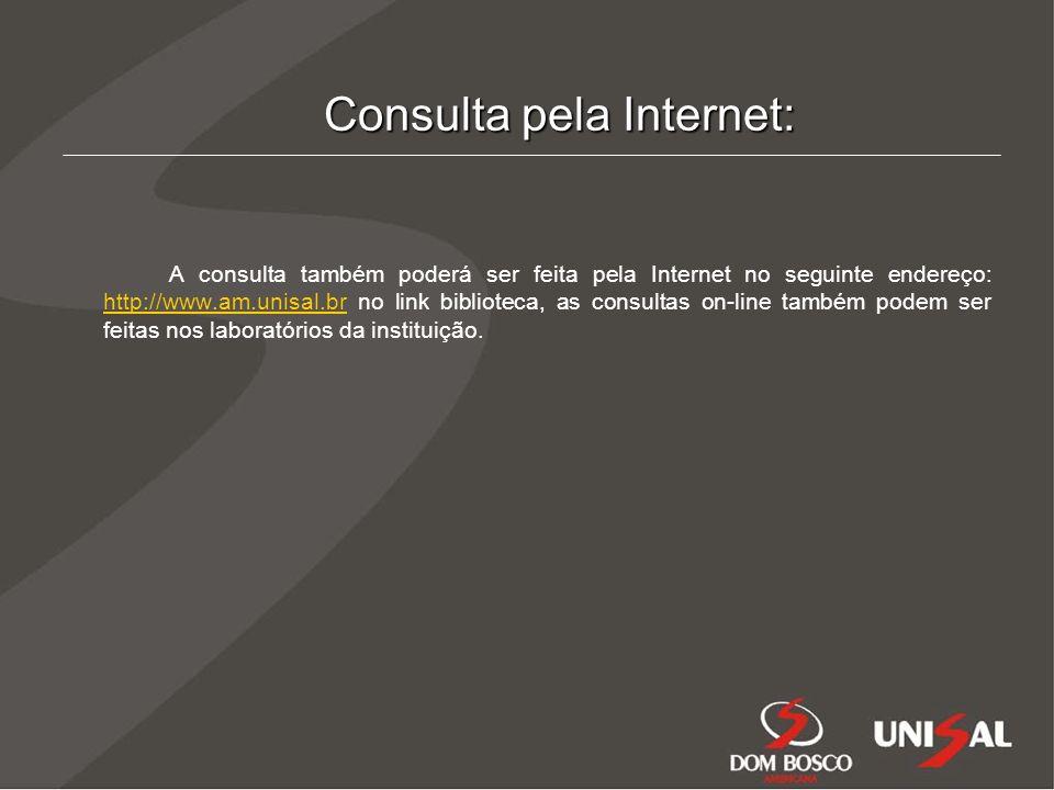 Consulta pela Internet: