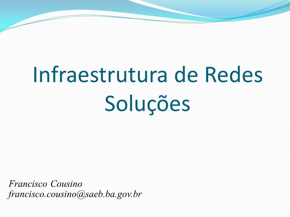 Infraestrutura de Redes Soluções