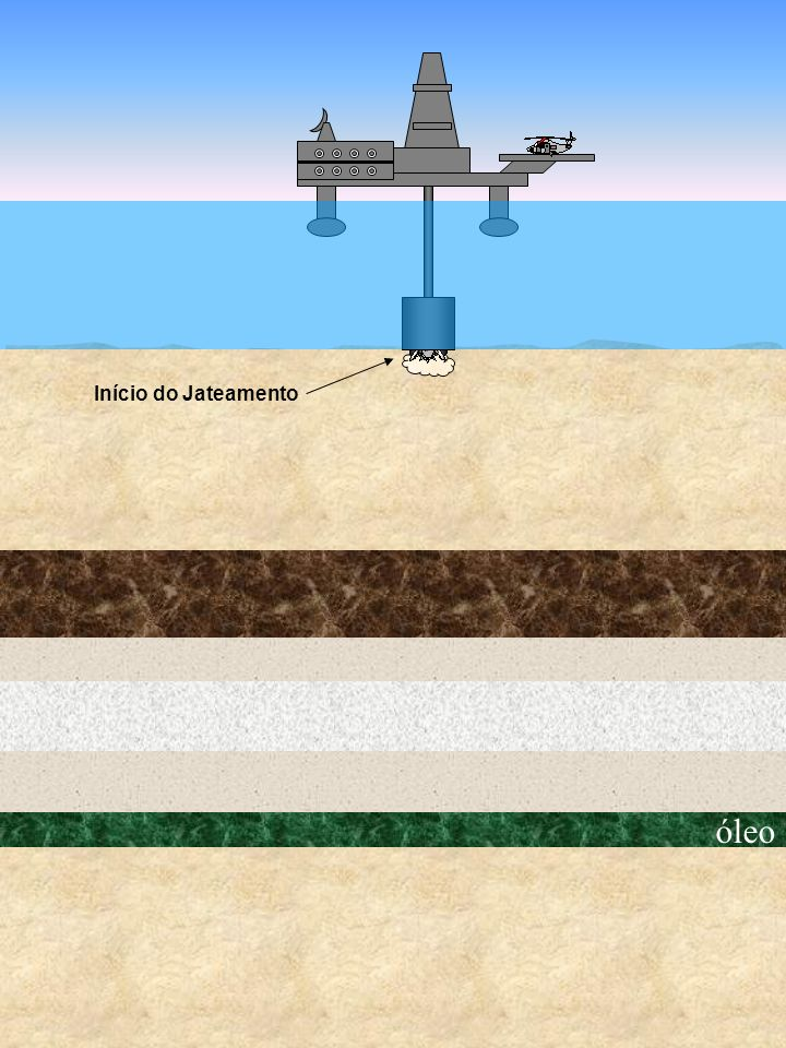 Início do Jateamento óleo
